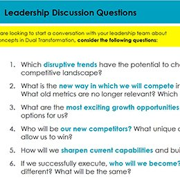 Dual Transformation - Leadership Discussion Questions260