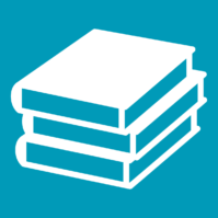 Books Vector Art On A Blue Background