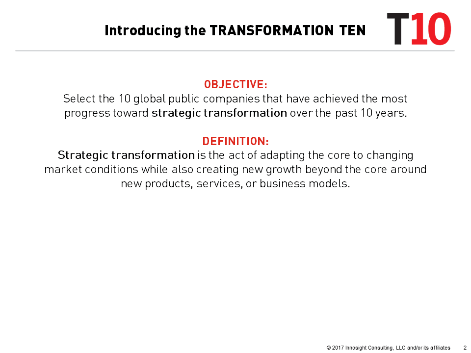 THE TRANSFORMATION 10 | Innosight