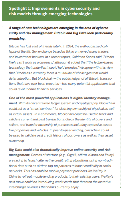 Spotlight 1: Improvements in cybersecurity and risk models through emerging technologies